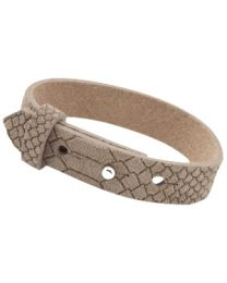 Cuoio Lederen Armband Breed Reptile Natural Medium Brown -