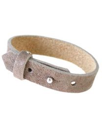 Cuoio Lederen Armband Breed Leopard Taupe Grey -