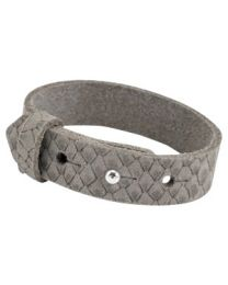 Cuoio Lederen Armband Breed Reptile Vintage Brown -