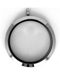 Floating Locket Medaillon XXL 39mm (RVS/Edelstaal) -
