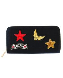 Portemonnee Patches Army Black -