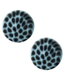 Cuoio Slider - Elements Leopard Soft Lagoon Blue 12mm -