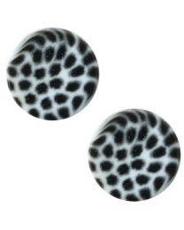 Cuoio Slider - Elements Leopard Powder Blue 12mm -