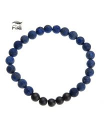 Fiell Heren Armband Natural Stone Blue 21cm -