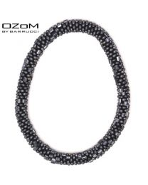 OZOM by Barrucci Roll-On Bracelet Anthracite -