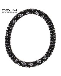 OZOM by Barrucci Roll-On Bracelet Black/Silver -