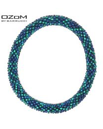 OZOM by Barrucci Roll-On Bracelet Blue/Green -