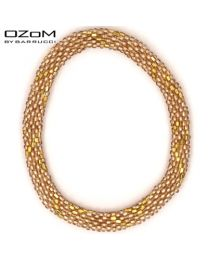 OZOM by Barrucci Roll-On Bracelet Gold -