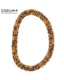 OZOM by Barrucci Roll-On Bracelet Gold/Brown -