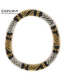 OZOM by Barrucci Roll-On Bracelet Gold/Silver -