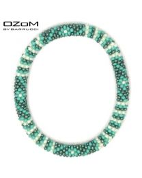 OZOM by Barrucci Roll-On Bracelet Flower Green -