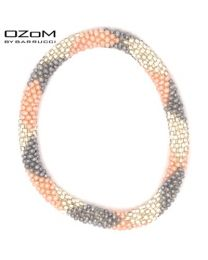 OZOM by Barrucci Roll-On Bracelet Grey Pink Silver -