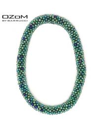 OZOM by Barrucci Roll-On Bracelet Green Spotted Blue  -