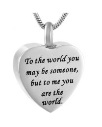 Ashanger Hart To The World You Maybe Someone But To Me You Are The World -