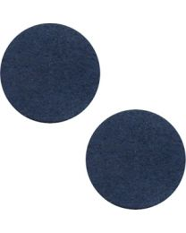 Cuoio DQ Leer Cabochon Dark Denim Blue 12mm  -