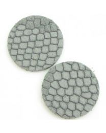 Cuoio DQ Leer Cabochon Reptile Light Grey 12mm  -