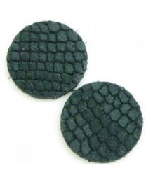 Cuoio DQ Leer Cabochon Reptile Petrol 12mm  -