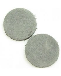 Cuoio DQ Leer Cabochon Vintage Smoked Grey  12mm  -