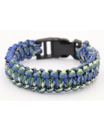 Paracord Herenarmband Blue/Green -