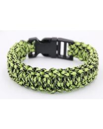 Paracord Heren Armband Black Green -