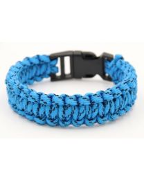 Paracord Heren Armband Blue/Black -
