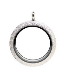Floating Locket Medaillon Twist Sparkle Zilver 34mm (RVS/Edelstaal) -