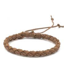 Gevlochten Armband Mannen Brown 17-21cm -