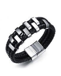 Heren Armband Stalen Design met Drie Gevlochten Banden 21cm -
