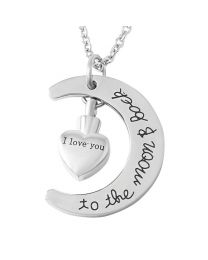 Ashanger I love You To The Moon And Back Silver (incl. ketting) -