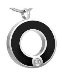 Ashanger Zwart Cirkel Ring Zirkonia -