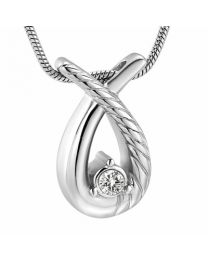Ashanger Teardrop Silver (incl Ketting) -