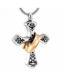 Ashanger Vintage Cross Golden ring -