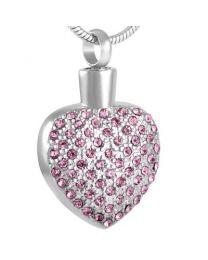 Ashanger Heart Pink Strass -