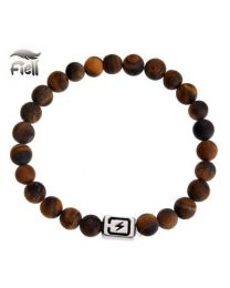 Fiell Lavasteen Armband Heren Tiger Eye 21cm -