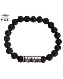 Fiell Lavasteen Armband Heren Volcanic Stone 19cm -