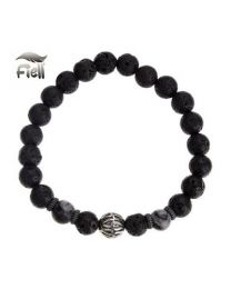 Fiell Lavasteen Armband Heren Volcanic Stone Ball 19cm -