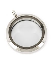 Memory Locket Medaillon 30mm (RVS/Edelstaal) -