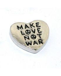Floating Charm Make Love Not War -