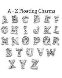 Floating Charm Letter Zilver -