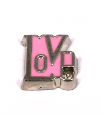 Floating Charm Love Roze -